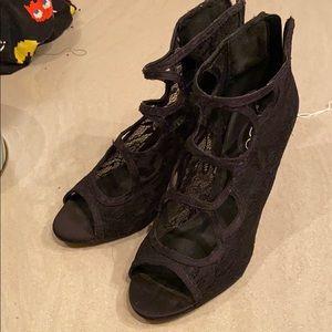 Aldo Genuine Leather Lace Heels